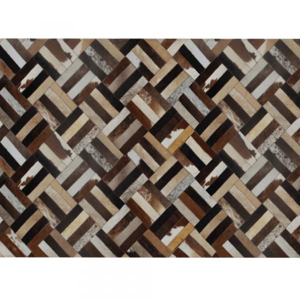 Luxusní koberec, pravá kůže, 140x200, KŮŽE TYP 2