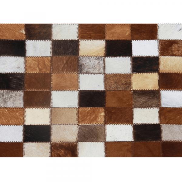 Luxusní koberec, pravá kůže, 200x304 cm, KŮŽE TYP 3